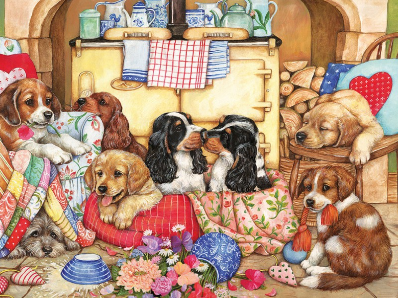 Пазл Собирать пазлы онлайн - Собачий рай