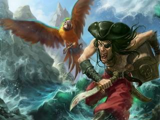 Собирать пазл Противный пират онлайн