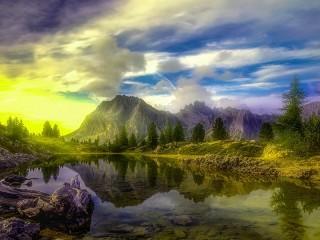 Собирать пазл Прозрачное озеро онлайн