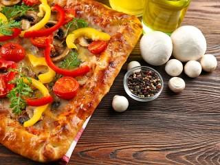 Собирать пазл Прямоугольная пицца онлайн