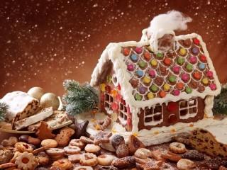 Собирать пазл Пряничный домик онлайн