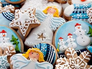 Собирать пазл Пряники на Рождество онлайн