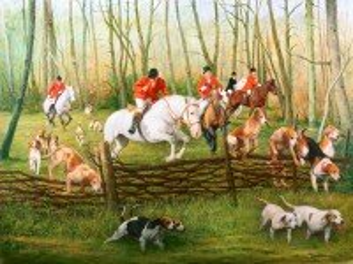 Собирать пазл Английская охота онлайн
