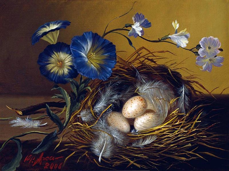 Пазл Собирать пазлы онлайн - Птичье гнездо