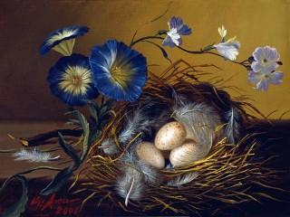 Собирать пазл Птичье гнездо онлайн