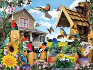 Собирать пазл Птичьи посиделки онлайн