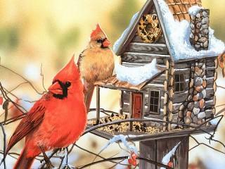 Собирать пазл Птичий домик онлайн