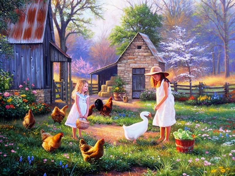 Пазл Собирать пазлы онлайн - Птичий двор