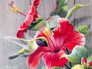 Собирать пазл Птица и цветы онлайн