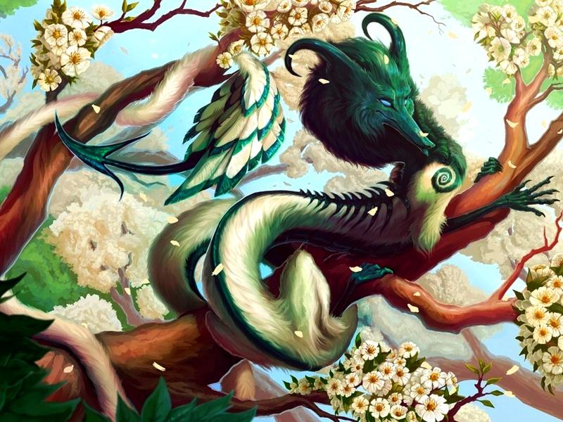Пазл Собирать пазлы онлайн - Пушистый дракон