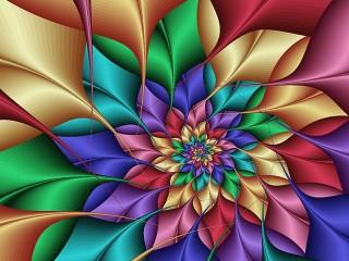 Собирать пазл Пёстрый цветок онлайн