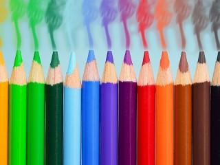 Собирать пазл Радуга карандашей онлайн