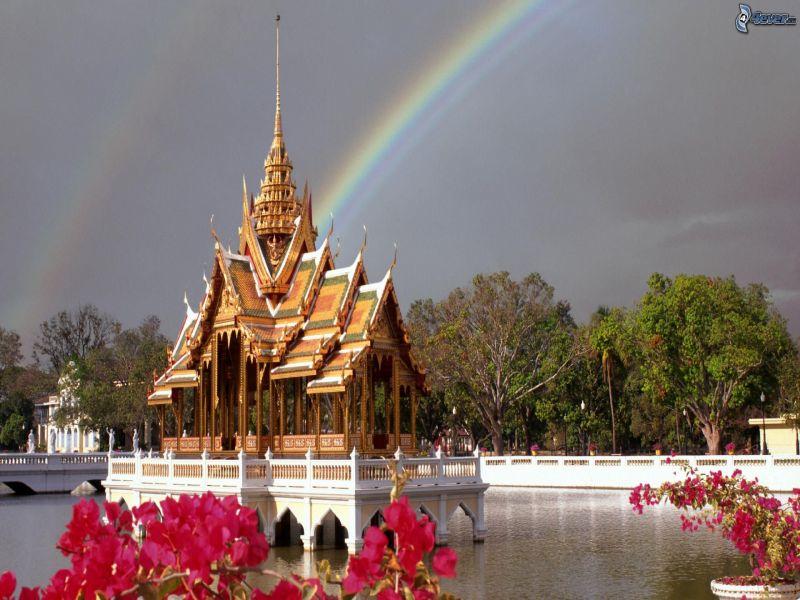 Пазл Собирать пазлы онлайн - Радуга над Банг Па-Ин