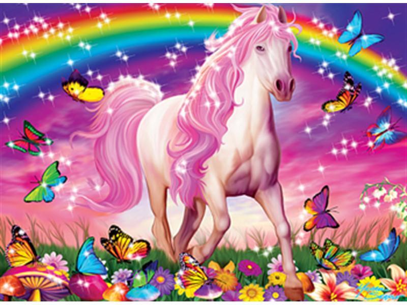 Пазл Собирать пазлы онлайн - Радужная лошадь
