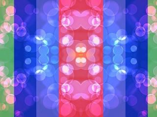 Собирать пазл Радужная симметрия онлайн