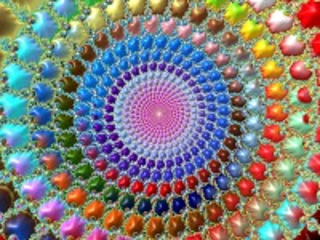 Собирать пазл Радужная спираль онлайн