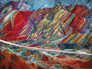 Собирать пазл Радужные горы онлайн