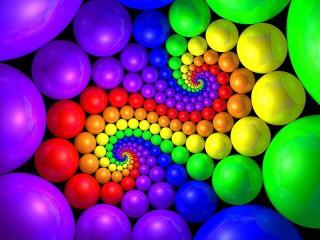 Собирать пазл Радужные шары онлайн
