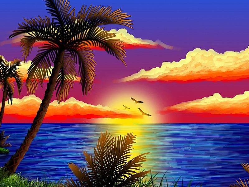 Пазл Собирать пазлы онлайн - Радужные тропики