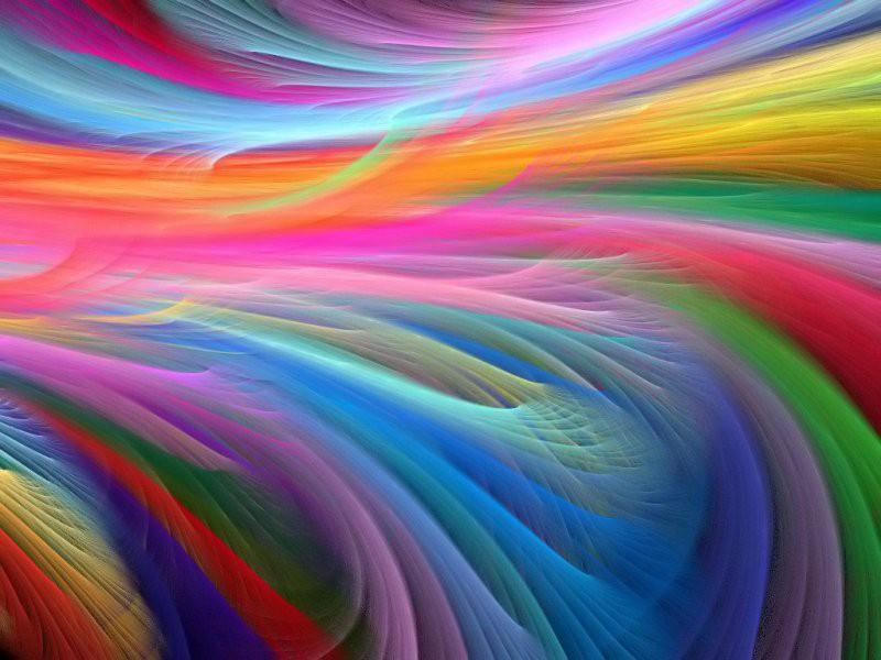 Пазл Собирать пазлы онлайн - Радужные цвета