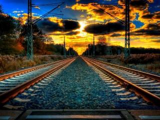 Собирать пазл Railway horizon онлайн