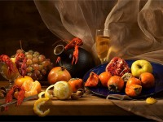 Собирать пазл Раки и фрукты онлайн