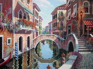 Собирать пазл Рандеву в Венеции онлайн