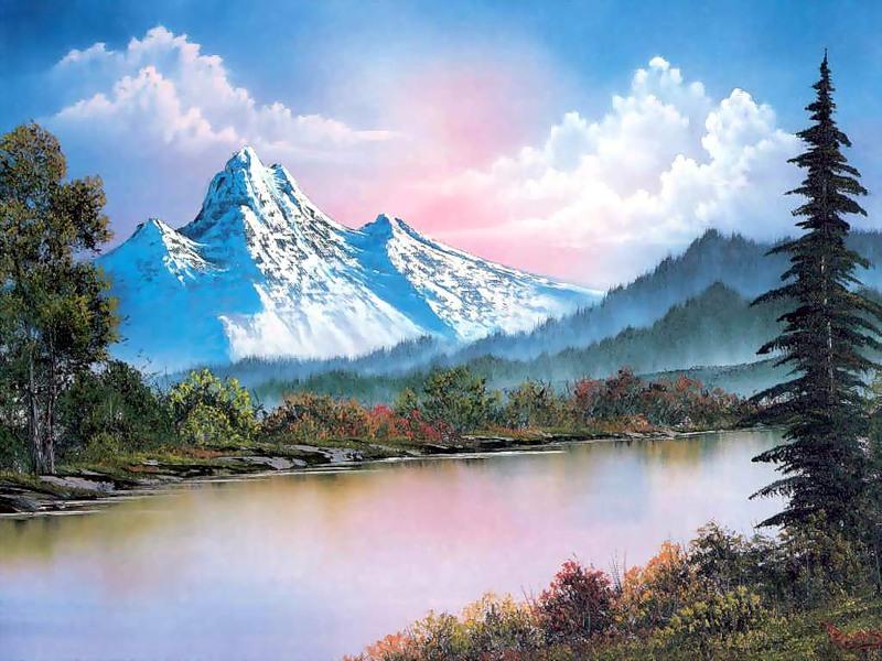 Пазл Собирать пазлы онлайн - Рассвет в горах