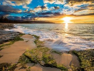 Собирать пазл Рассвет на Гавайях онлайн
