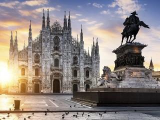 Собирать пазл Рассвет в Милане онлайн