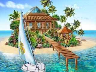 Собирать пазл Райский островок онлайн