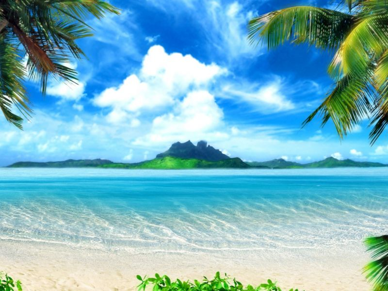 Пазл Собирать пазлы онлайн - Райский пляж