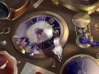 Собирать пазл Разбитые часы онлайн