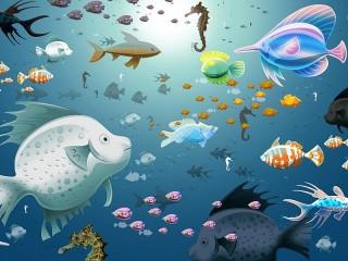 Собирать пазл Разные рыбки онлайн