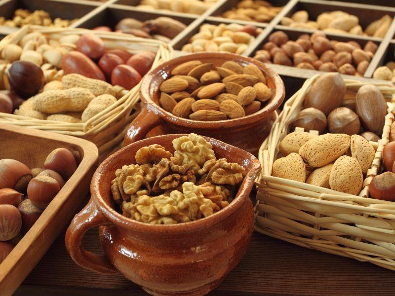 Пазл Собирать пазлы онлайн - Разнообразие орехов