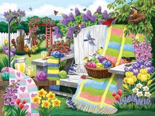 Собирать пазл Разноцветные клубочки онлайн