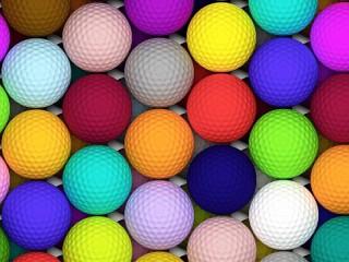 Собирать пазл Разноцветные мячи онлайн