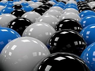 Собирать пазл Разноцветные шары онлайн
