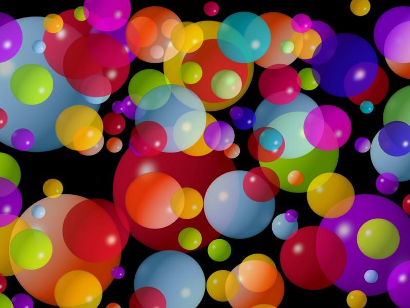 Пазл Собирать пазлы онлайн - Разноцветные шарики