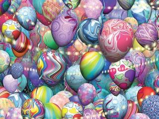 Собирать пазл Разноцветные шарики онлайн