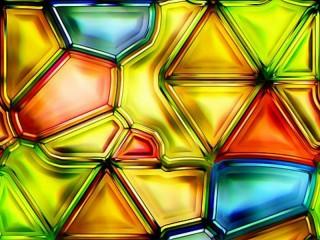 Собирать пазл Разноцветное стекло онлайн