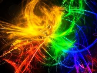 Собирать пазл Разноцветный дым онлайн