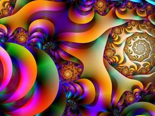 Собирать пазл Разноцветный фрактал онлайн