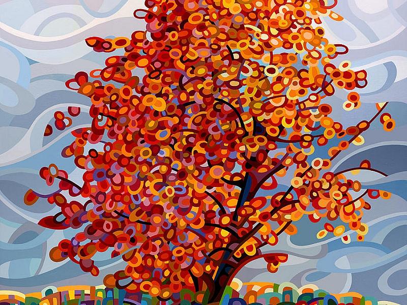 Пазл Собирать пазлы онлайн - Red Tree