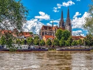 Собирать пазл Регенсбург Германия онлайн