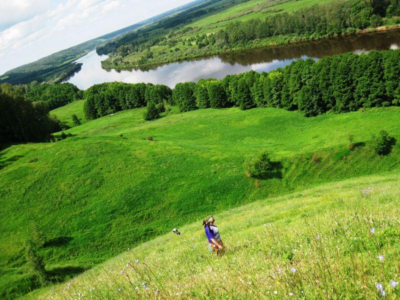Пазл Собирать пазлы онлайн - Река Клязьма