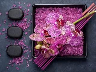 Собирать пазл Релакс с орхидеями онлайн