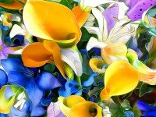 Собирать пазл Рендеринг Цветы онлайн
