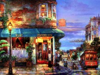 Собирать пазл Ресторан на углу онлайн