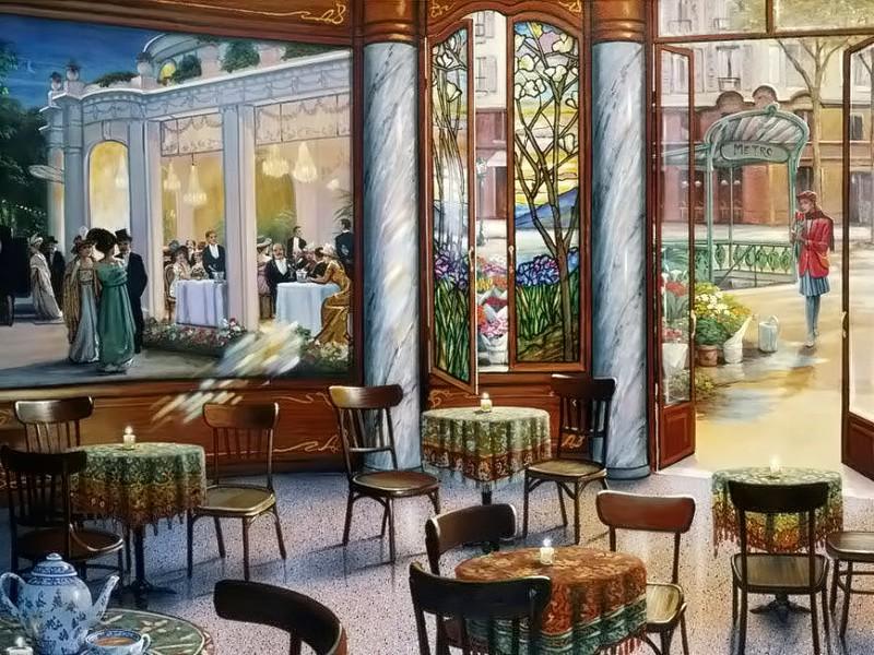 Пазл Собирать пазлы онлайн - Ресторан у метро